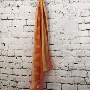NWT scarf in yellow and orange and pink